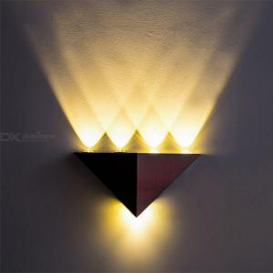 4W Aluminum Triangle LED Wall Lamp High Power Modern Home Lighting Indoor Outdoor Party Light