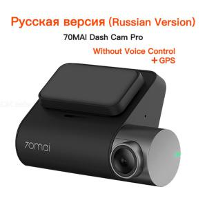 XIAOMI 70mai Dash Cam Pro 2 Inch GPS 1944P HD 140 Degree FOV Russian Version Dash Camera  W/Sandisk Memory Card