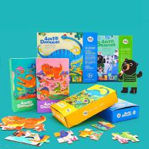 Childrens-4-in-1-Wooden-Puzzles-Set-Large-Educational-Cartoon-Jigsaws