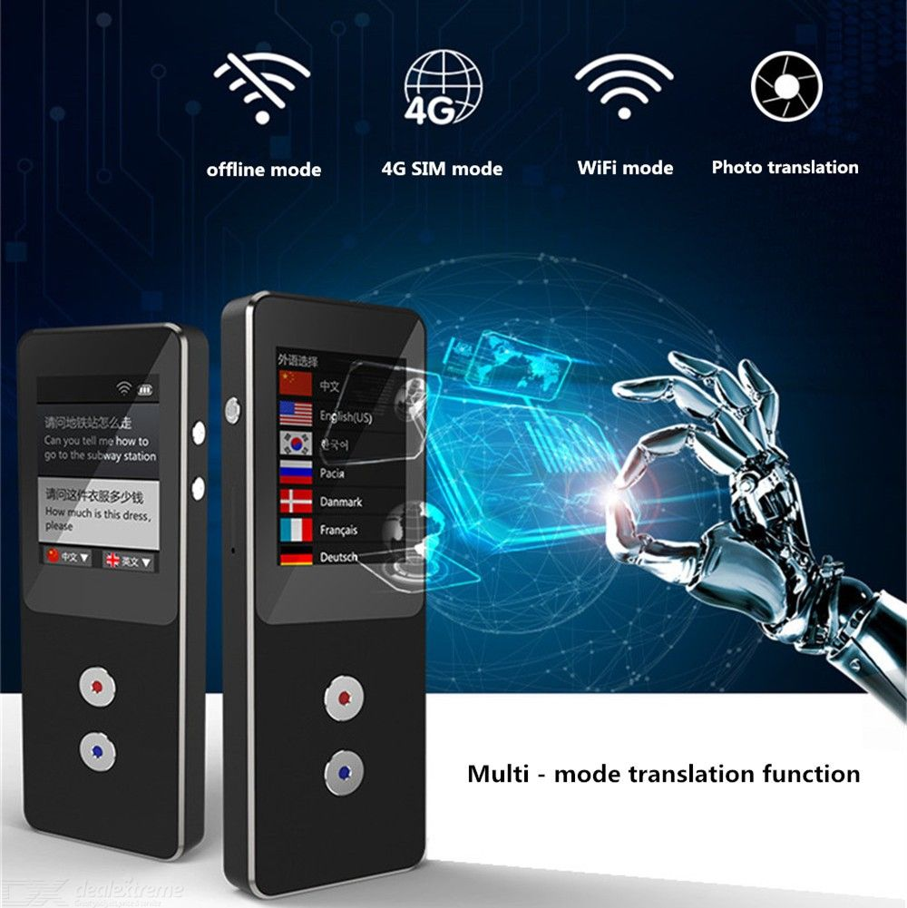 Binai T9-4G Portable Language Translator Device Support 27 Language Two-way Translation