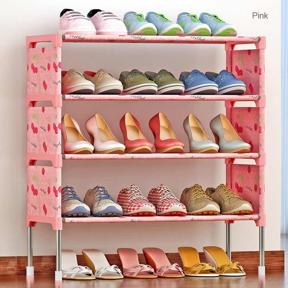 Assembly-5-Layer-Simple-Dust-Fabric-Storage-Shoes-Thickening-Non-woven-Reinforcement-Rack