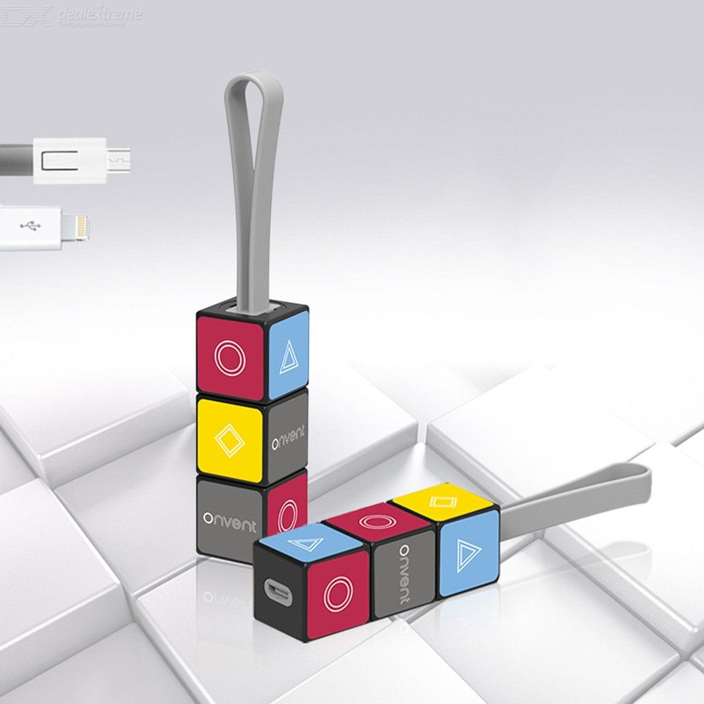 Portable Magic Cube Keychain USB Data Cable Fast Charging For IPhone