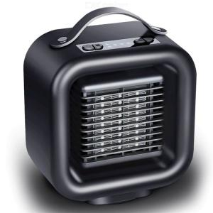 19.6 X 18.5 X 11cm Portable Space Heater Fan With Adjustable Thermostat