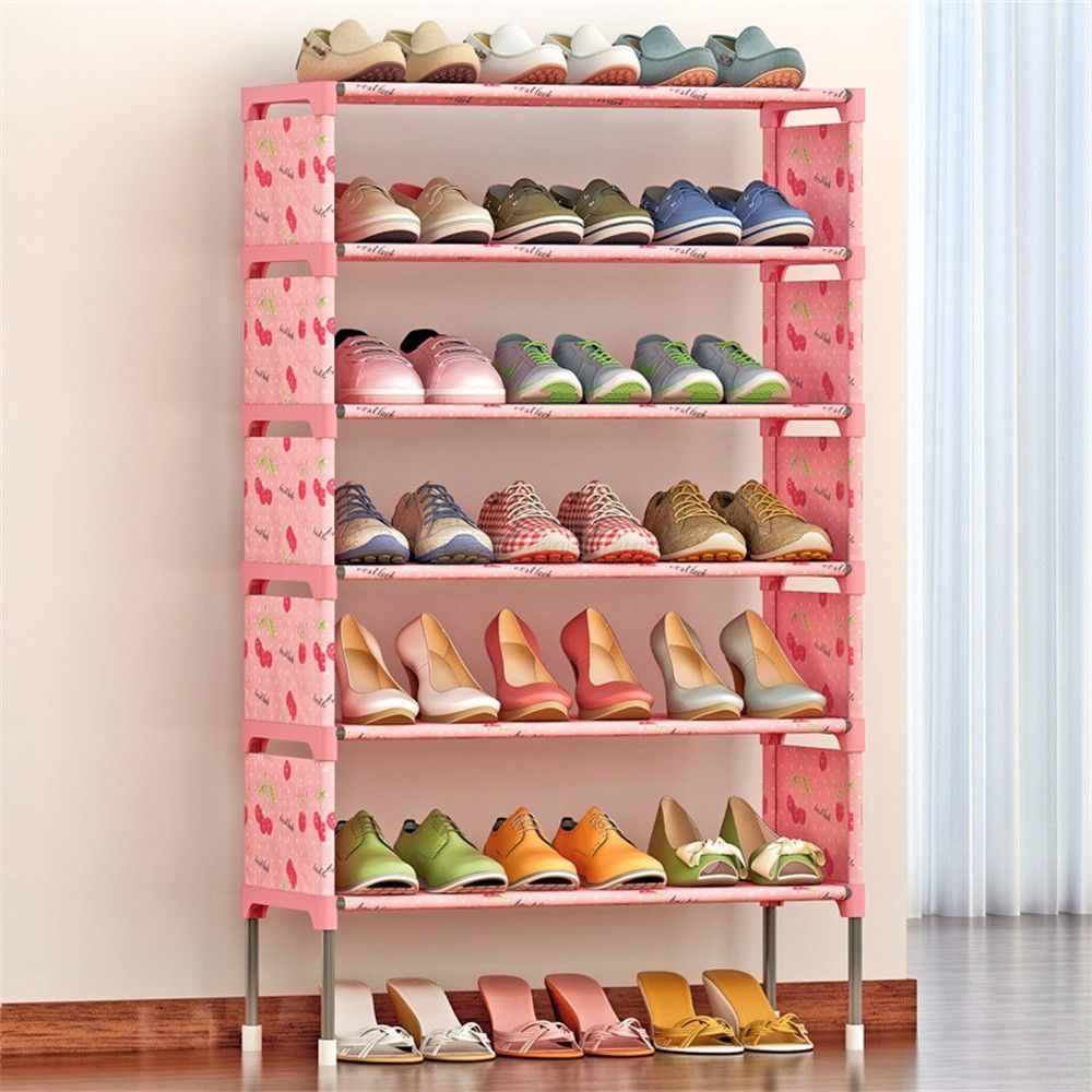 Assembly-7-Layer-Simple-Dust-Proof-Fabric-Storage-Shoes-Thickening-Non-woven-Reinforcement-Rack