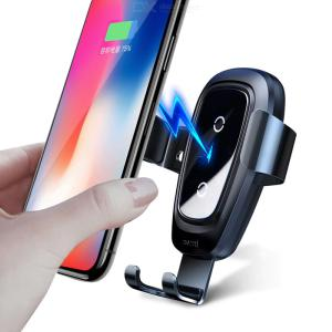 Baseus Metal Qi Wireless Charger Fast Charging Phone Holder Stand