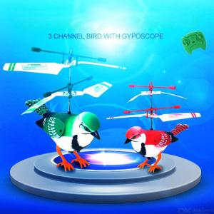 Bird Shape Children Helicopter Remote Control Aircraft Electric Toys With LED Light