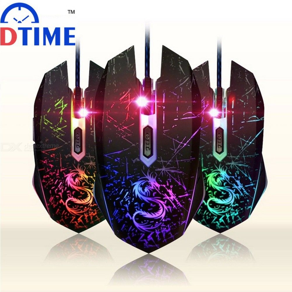DTIME Ergonomic 3500 DPI Wired Gaming Mouse 4-button USB Game Mice