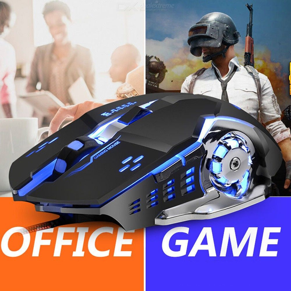 Wired Gaming Mouse Ergonomic USB Game Mice 1200 To 3200 Four DPI Levels