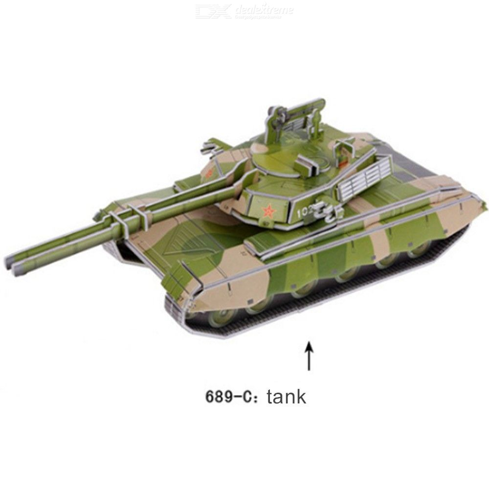 Educational 3D Puzzles DIY Tank Paper Models For Toddlers