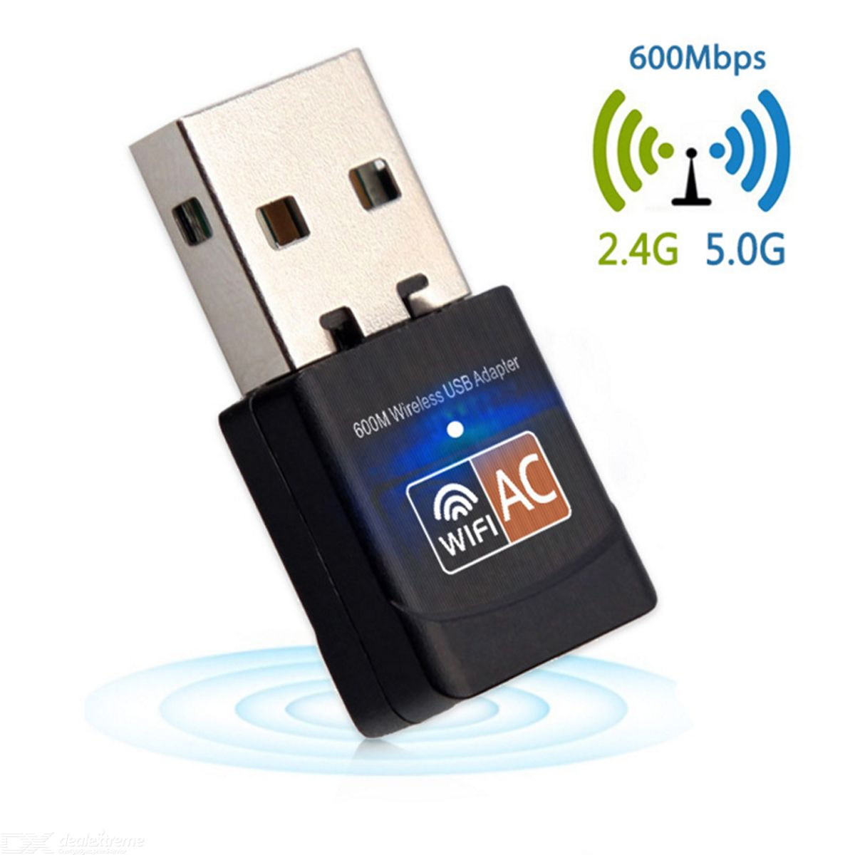 USB Wireless Adapter Card 600Mbps WiFi Mini Dongle for Laptop LAN Network 2.4G