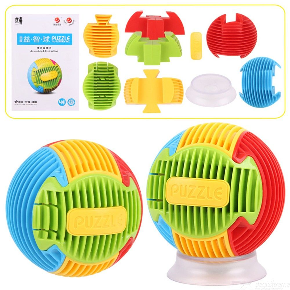 8PC/Set Educational 3D Jigsaw DIY Puzzle Ball For Kids