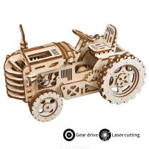 14-X-118-X-238cm-Educational-3D-Tractor-Puzzle-Set-DIY-Wooden-Vehicle-Craft-Kit