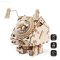 Creative-3D-Music-Box-Puzzles-DIY-Wooden-Robot-Dog-Building-Kit