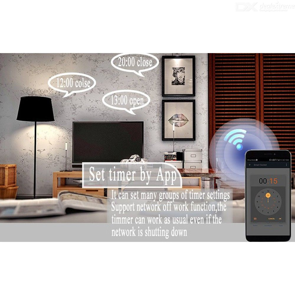 Smart Light Switch WiFi In-wall Controller With Remote Control Timer EU Plug