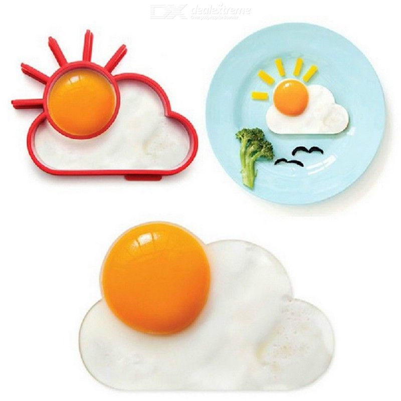 Love Breakfast Lunch Silicone Fried Egg Mold Sun Cloud Shaper Cooking Tools Kitchen Gadgets