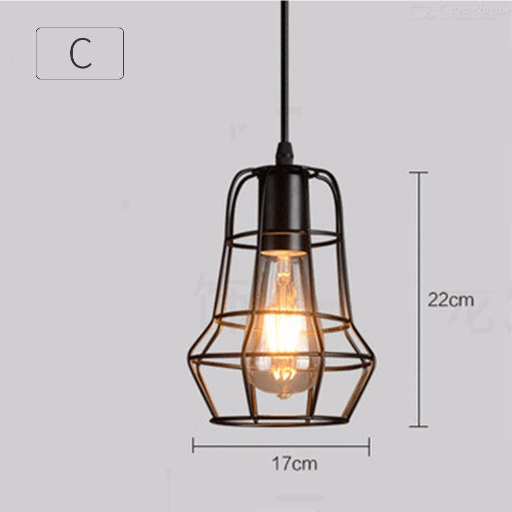 Vintage Style Iron Pendent Light E27 LED Decorative Lighting For Dining Room