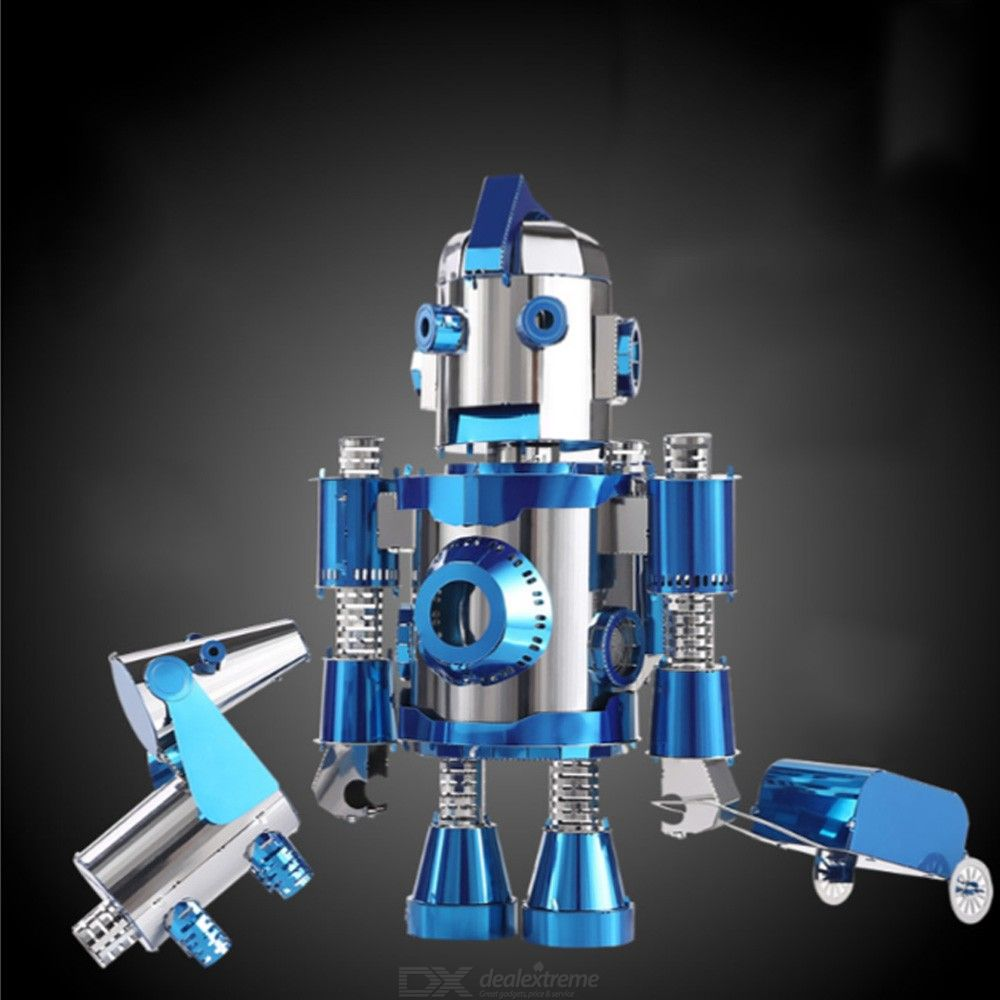 Stylish DIY 3D Robot Model Educational Metal Assembly Puzzles For Kids