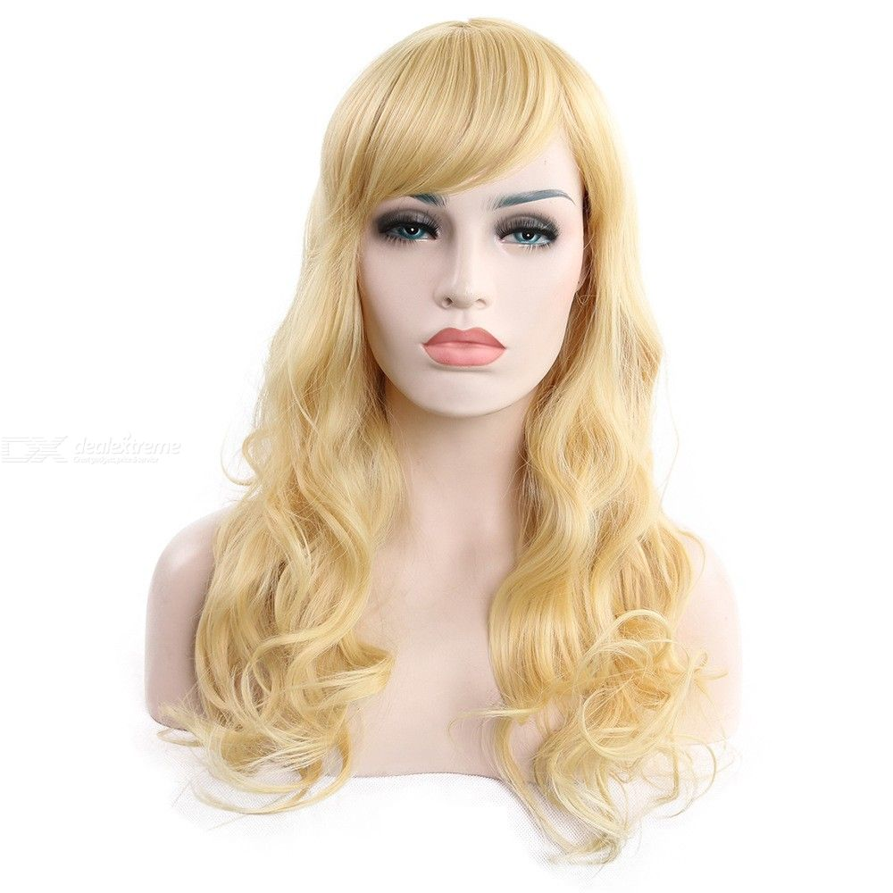 62CM-Long-Curly-Wig-Natural-Wavy-High-Temperature-Fiber-Hair-For-Women