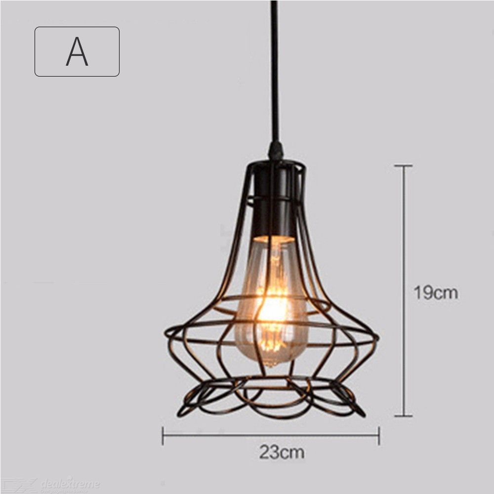 Streamlined Iron Chandelier E27 LED Pendant Light With Adjustable Height - from $20.99