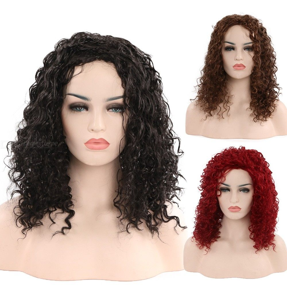 50CM-Short-Curly-Wig-Wavy-High-Temperature-Fiber-Synthetic-Hair-For-Women