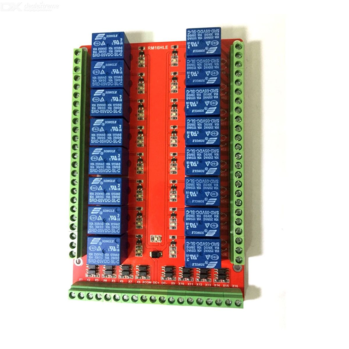 16-Channel 5V Relay Module Board - Red + Blue