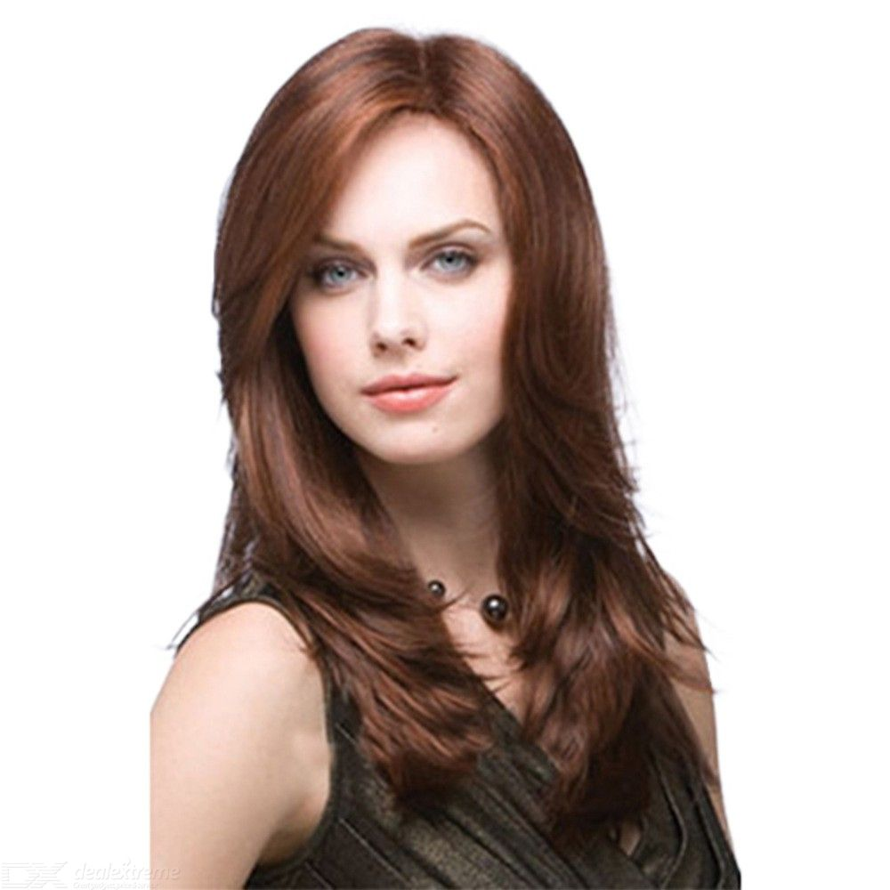 53CM-Womens-Long-Wavy-Wig-Natural-Curly-Synthetic-Fiber-Hair-With-Side-Bangs