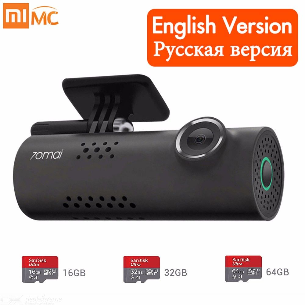 Original 70mai Car DVR Cam (Russian Voice Control) 1080HD Night Vision Dash  Cam Wifi Car Camera Auto Recorder G-sensor