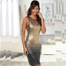 d7261df744e Summer Sequin Gradient Color Sleeveless Backless Club Sheath Party Dresses  For Women