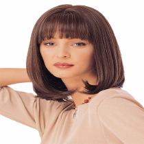 35CM-Womens-Natural-Wavy-Wig-Flat-Bangs-Medium-Bob-Hair