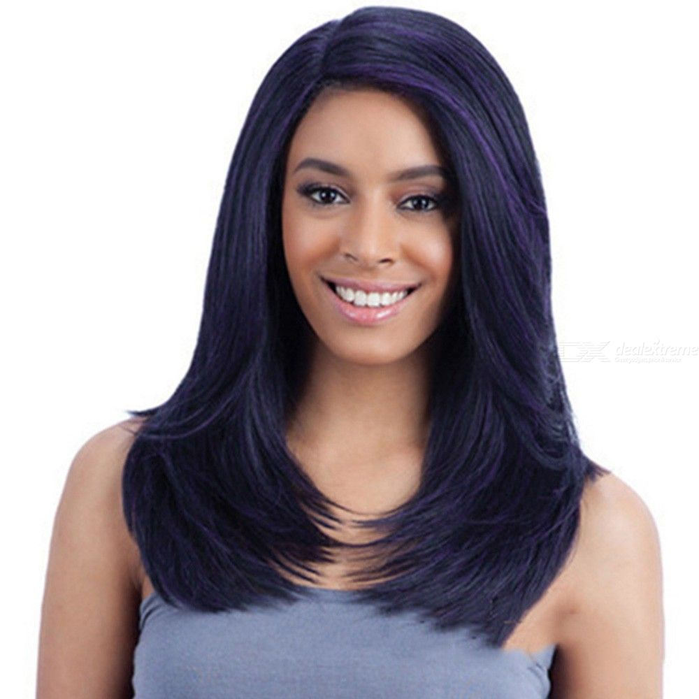 50CM-Womens-Long-Wavy-Wig-Natural-Side-Parting-Hair-Without-Bangs
