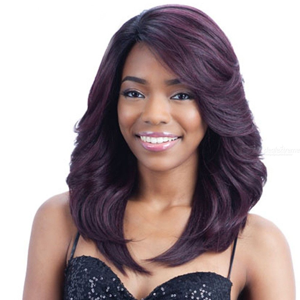 45CM-Womens-Medium-Curly-Wig-High-Temperature-Fiber-Hair-With-Side-Bangs