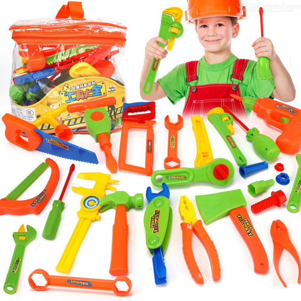 Childrens-Toy-Tool-Set-Life-like-Pretend-Play-Construction-Building-Kit