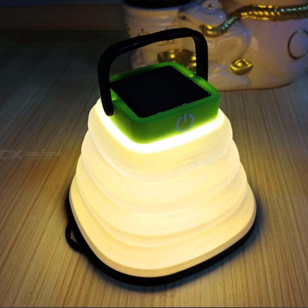 Portable Solar Lantern Foldable USB Rechargeable LED Lamp For Camping