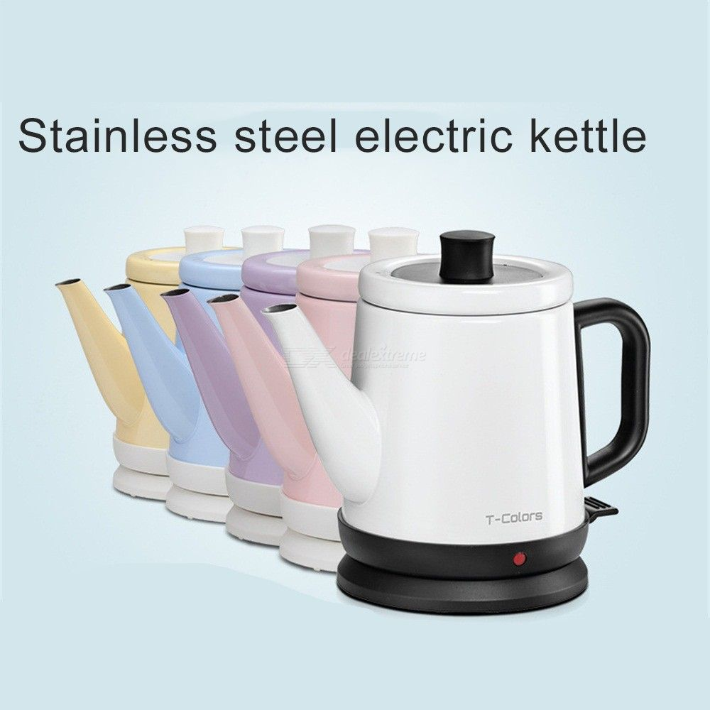 T-Colors-Mini-Stainless-Steel-Travel-Electric-Kettle-Teapot-Cup-Quick-Heating-Pot