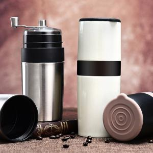 Manual Coffee Grinder 4-in-1 Coffee Bean Mill Filter Vacuum Cup And Storage Tin