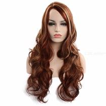65CM-Womens-Long-Wavy-Wig-High-Temperature-Fiber-Hair-Without-Bangs