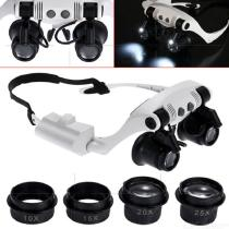 10x-15x-20x-25x-Adjustable-Optical-Lens-Glasses-Magnifying-Glass-With-Led-Lamp-For-Repair