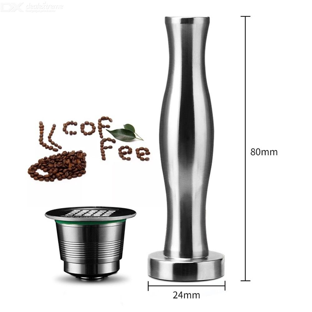 Refillable Solid Press Stainless Steel Powder Hammer For Coffee Machine Accessories