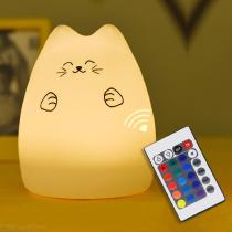 LED-Night-Lights-Colorful-Cute-Silicone-Fortune-Cat-Lamp-Tap-Touch-Sensor-Bedroom-Decoration