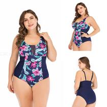 Summer-Plus-Size-Swimming-Suit-Print-Patchwork-One-Piece-Bikinis-For-Women-1956-Multi