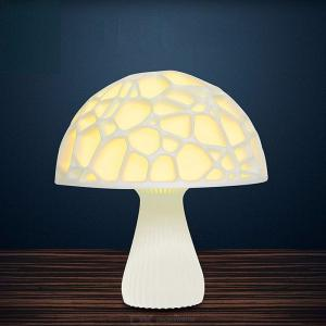 USB Rechargeable 3D Mushroom LED Light Remote Control Night Lamp For Home Decoration 20cm