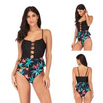 Summer-Flounce-Swimming-Suit-Cross-Strap-Print-Patchwork-One-Piece-Bikinis-For-Women-1901