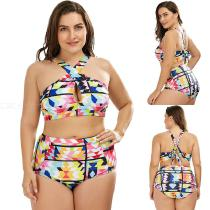 Summer-Two-Piece-Bikinis-Set-Geometric-Print-Plus-Size-Swimming-Suit-For-Women