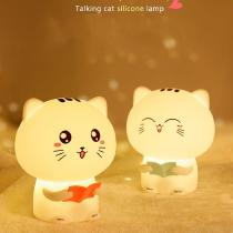 LED-Night-Lights-Colorful-Cute-Silicone-Cat-Shape-Record-Remote-Control-Lamp-Bedroom-Decoration