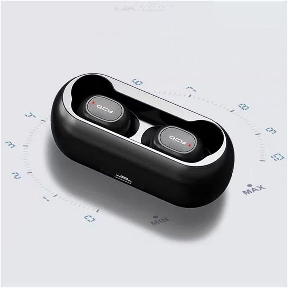6bddecd4459 QCY T1C Mini Wireless Bluetooth Earphones With Mic Sports Noise Cancelling  Headset With Charging Box