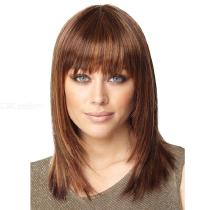 Short-Straight-Fashion-Wigs-Natural-Synthetic-Hair-For-Women-(38CM)-Brown