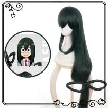 My-Hero-Academia-Cosplay-Wig-Asui-Tsuyu-Costume-Party-Lace-Hair-For-Coser