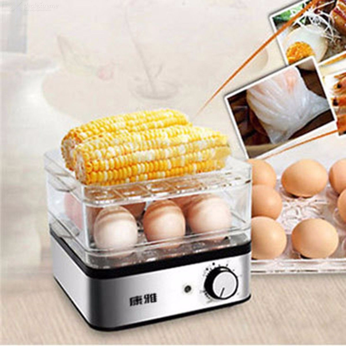 Multifunction Three Layers Timing Egg Boilers Steamer Breakfast Machine 220V