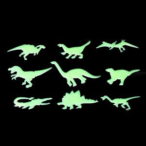 9Pcs/Set Glow In The Dark Dinosaurs Luminous Stickers Toys Ceiling Decal Baby Kid Room