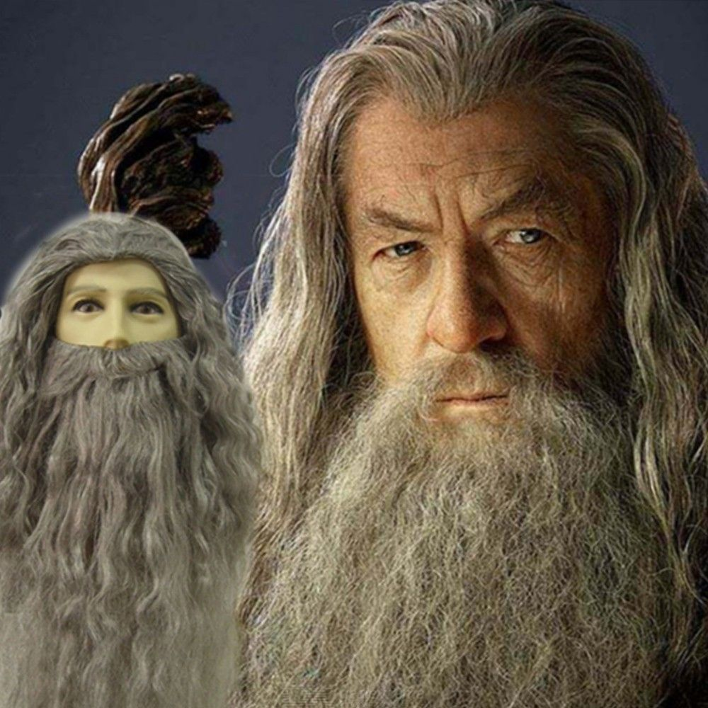 Albus Dumbledore Cosplay Wig And Beard Set Harry Potter Character Cosplay Accessories